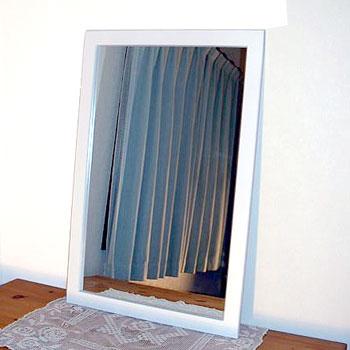 ビッグ,フラット,フレーム,ウォール,ミラー,600×900mm,鏡,壁掛け鏡,送料,無料,ホワイト