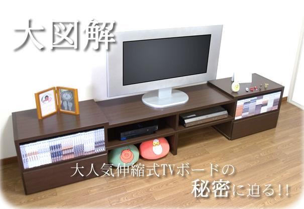 大図解 大人気伸縮式TVボードの秘密に迫る!!